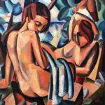 _Bathers_ 81x80cm,oil on canvas by Hennie Niemann jnr, 2018 large