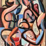 Joie de vivre 120x100cm, oil on canvas by Hennie Niemann jnr