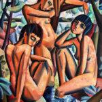 _River nymphs_, 120x100cm, Oil on canvas by Hennie Niemann jnr (2)