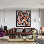 Tapestries of Desire. 150x130 cm, Oil on Belgian canvas by Hennie Niemann jnr, 2019,signed and dated lower left.