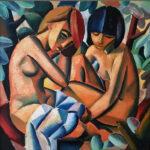 _The convidant_, 81x80cm, Oil on canvas by Hennie Niemann jnr, 2016