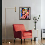 Hennie Niemann jnr / wall mounted portrait